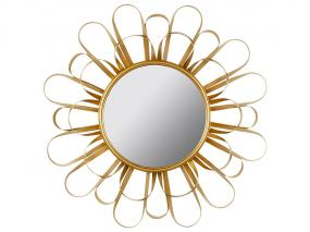 Golden Round Mirror