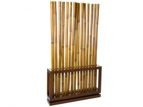Walnut coloured bamboo stand