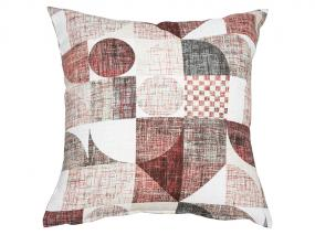 Red Damero cushion