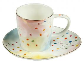 Taza y plato colour