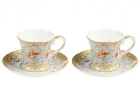 Set 2 cups majestic plate