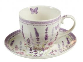Lavender cup and plate