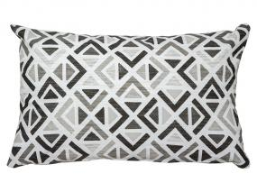 Sonia geo cushion gray