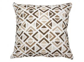 Sonia geo cushion beige