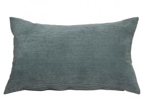 Gray corduroy cushion