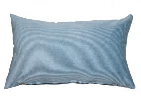 Blue corduroy cushion