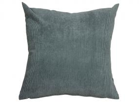 Gray corduroy cushion 45x45 cm