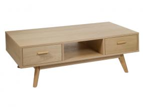 Oak coffee table with 2 drawer