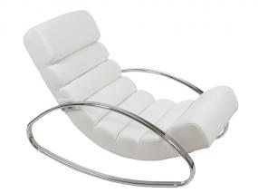 White PU rocking chair