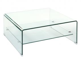 Square glass center table