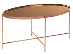 Copper oval center table