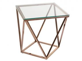 Crystal side table Pris gold