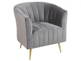 Gray deco armchair