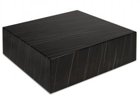table de centre cube noir