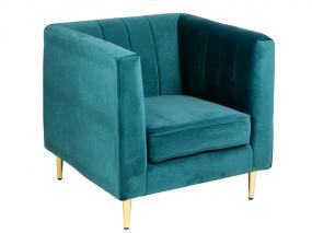 Velvet armchair green