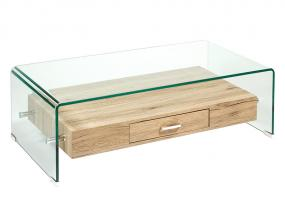 Table basse en cristal de bois